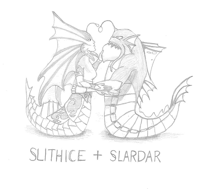 Slithice and Slardar by PrinceChartreuse
