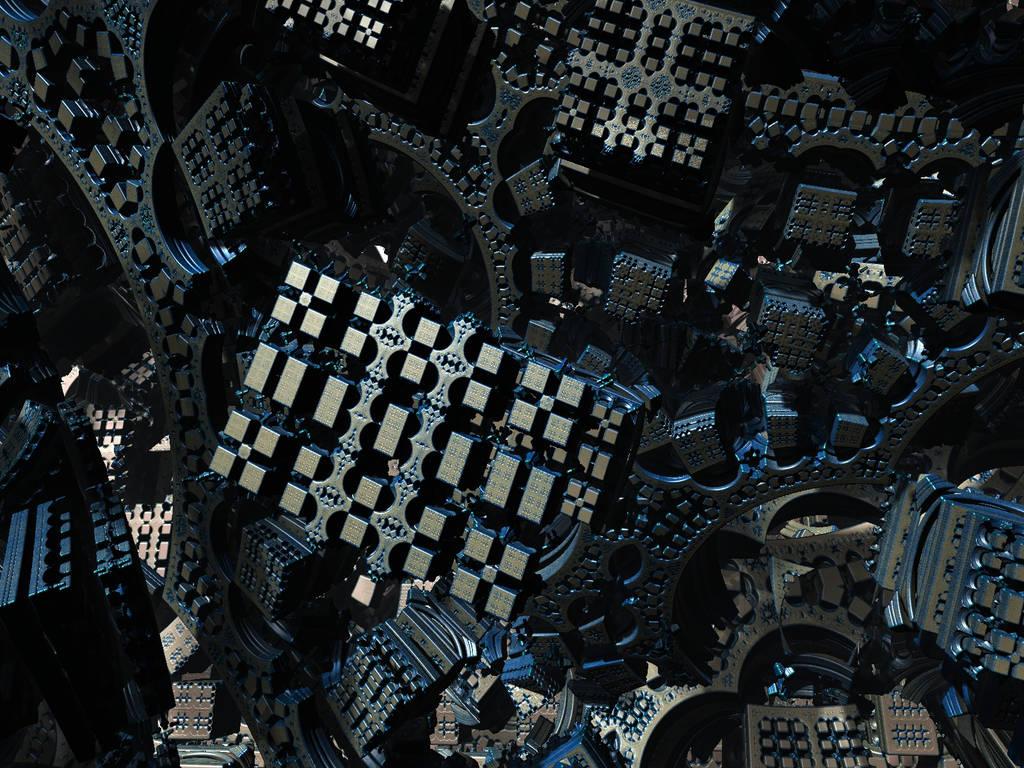 Mandelbox-BlocksAndArches by PrinceChartreuse