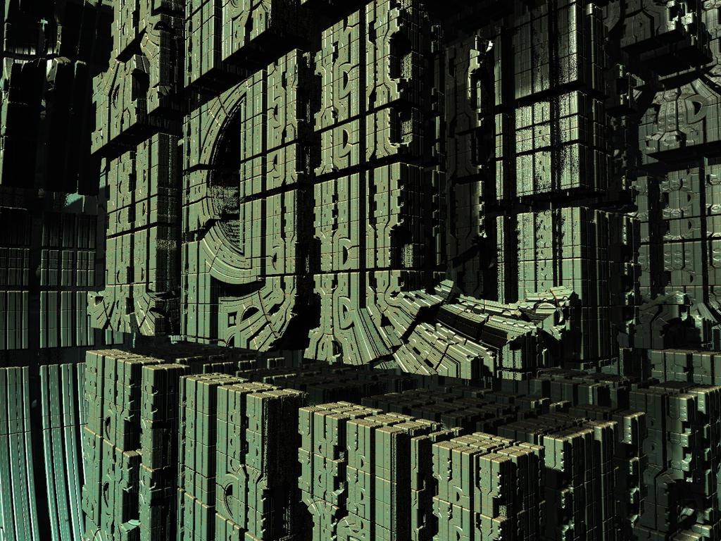 Mandelbox-NeoAztec by PrinceChartreuse