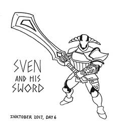 Sven and his Sword by PrinceChartreuse