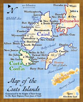 Coats Islands Map