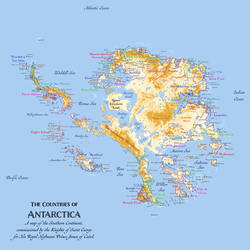The Countries of Antarctica by PrinceChartreuse