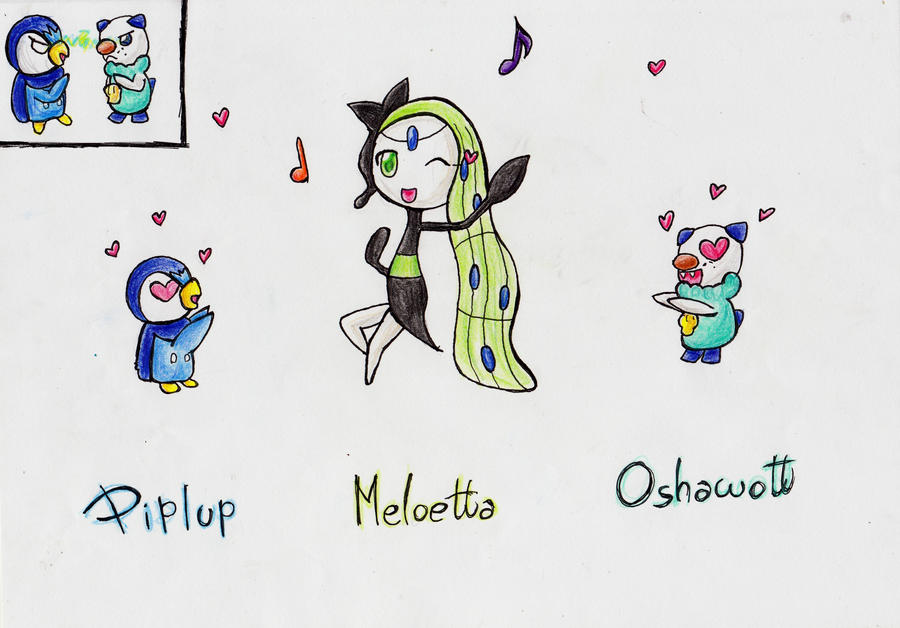 Piplup and Meloetta and Oshawott by IperGiratina98 on ...