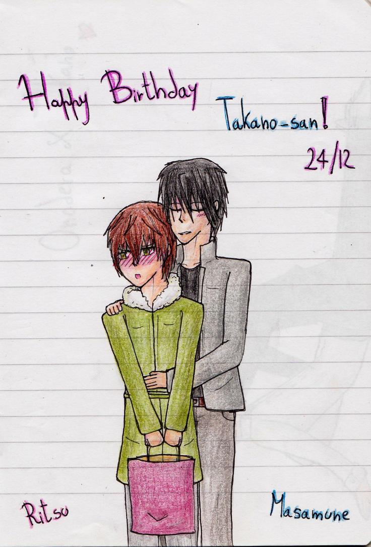 Happy Belated Birthday Takano-san~ by IperGiratina98