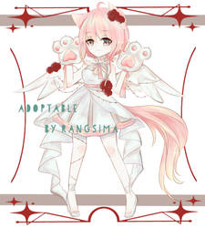 [ Auction] Adoptable #2 Angel cat  [CLOSED] by nicesama2324