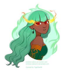 Maiden Emerald by rainbow-zebra23