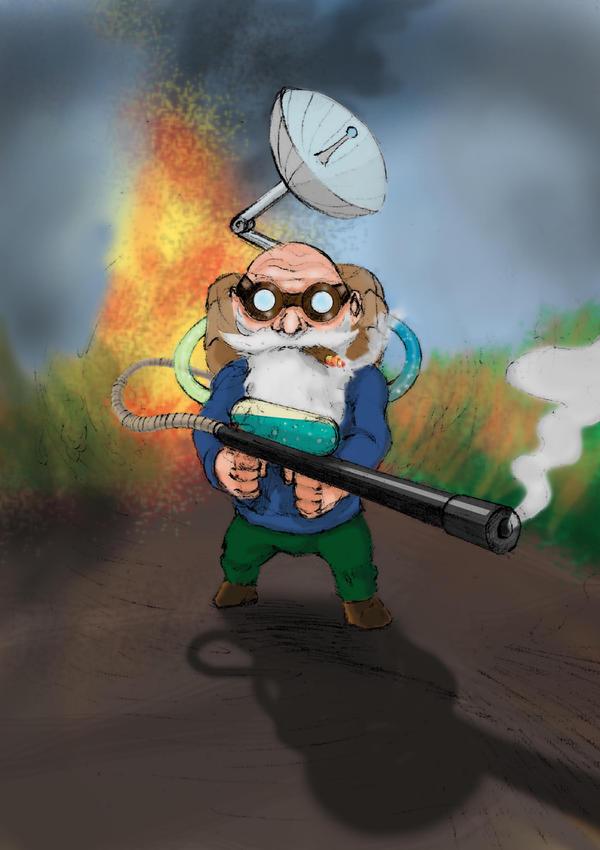 Gnome Flame Thrower by borosaur