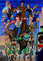 Teaming up with The Ninja Turtles by BorisPeci