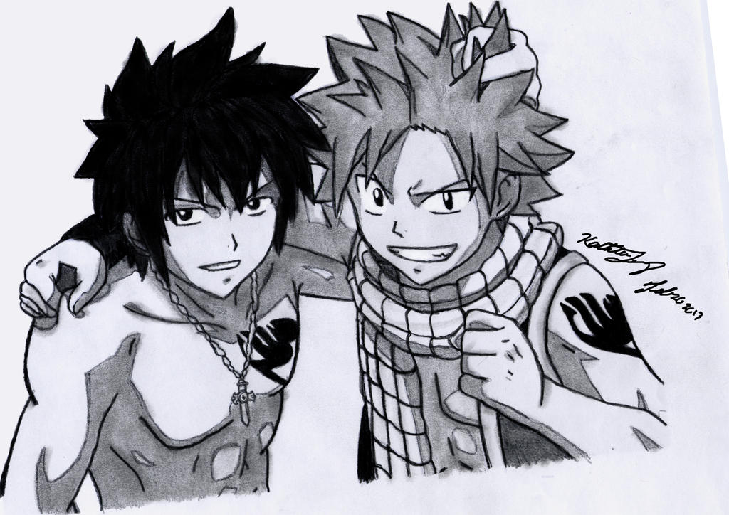 Natsu and Gray - Fire and Ice by ElynGontier on DeviantArt