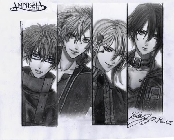 Amnesia: Kent Toma Ikki and Shin by SilverGoldsun
