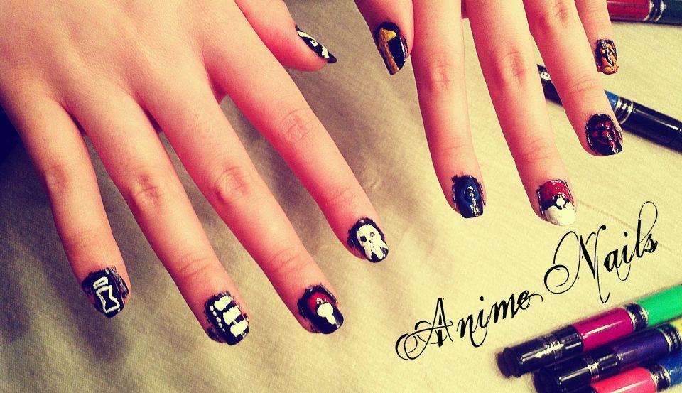 Anime nails by silvergoldsun on deviantart anime nails by silvergoldsun prinsesfo Gallery