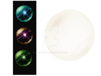 PNG Clear Globe / Orb (On right of image)