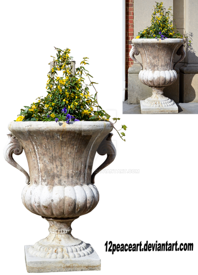 Outdoor Flower Planter Vase Cut Out By 12peaceart On Deviantart