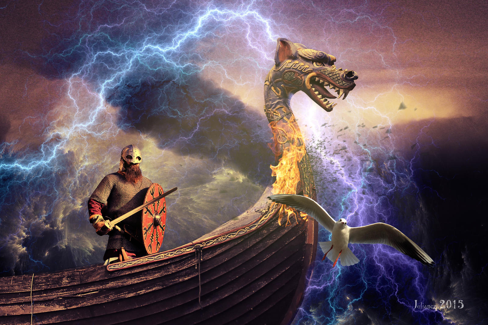 The wrath of Odin by Julianez