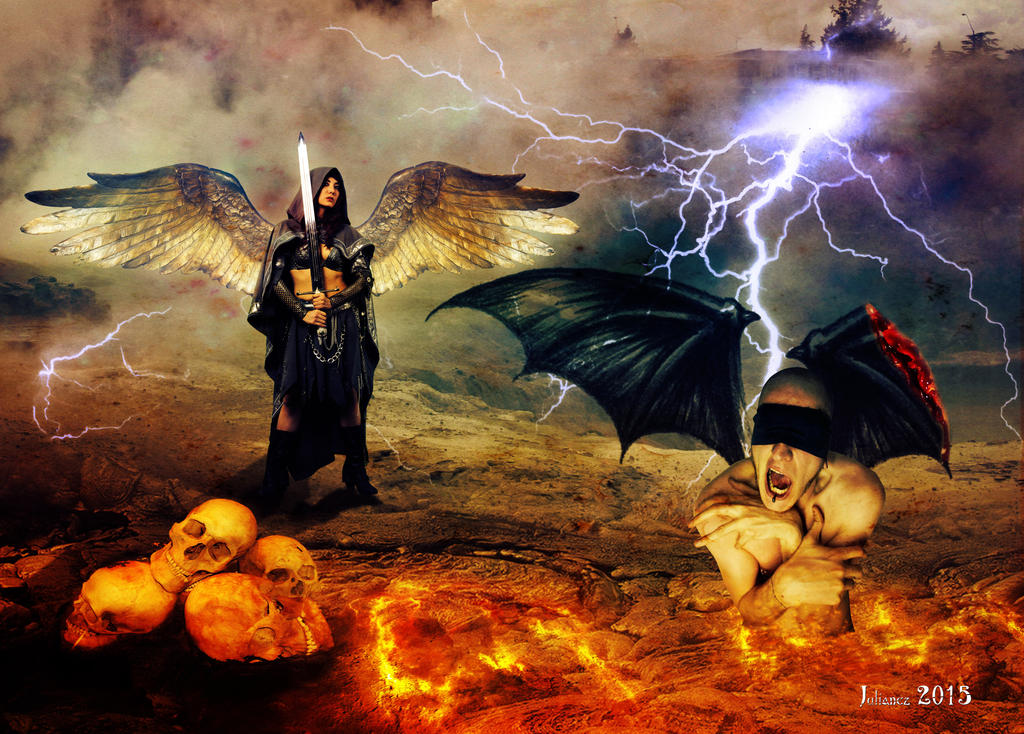 heaven vs hell Heaven vs hell lyrics: you go to the church, kiss the cross / you worship satan, baphomet is your boss / gave your soul to christianity / watch your mouth and.
