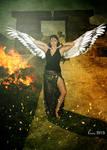 Winged goddess Isis