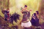 Oberon, Titania, Hermia, Lysander