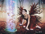 Fairy with forest spirits