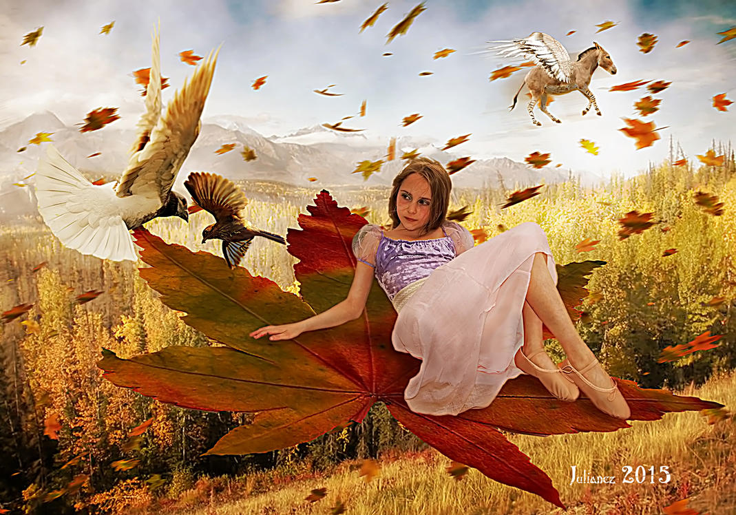 Dance of the autumn wind by Julianez