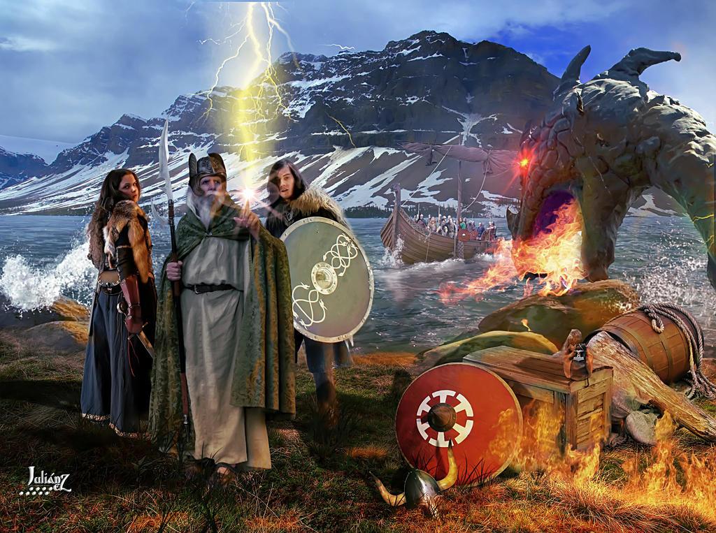 Midgard mighty Odin by Julianez