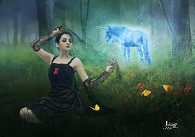 My blue unicorn by Julianez