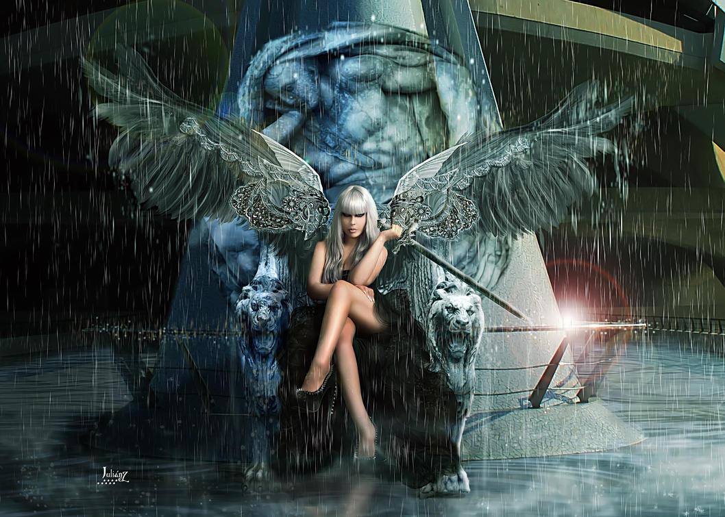 Waterlogged throne by Julianez