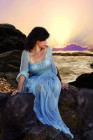 Sunset on the rocks by Julianez