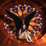 Angel in the rosette