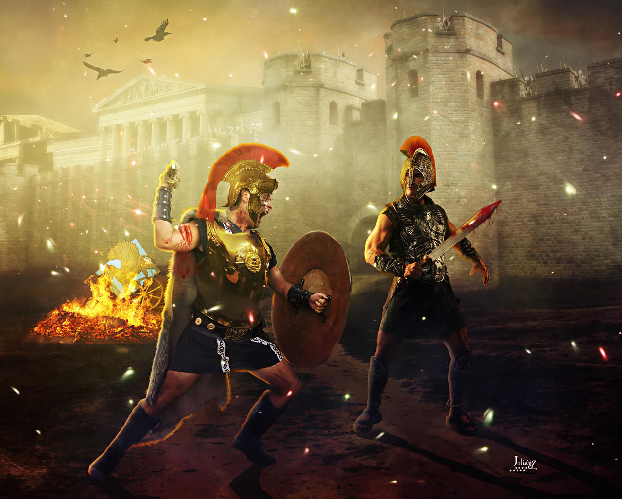 Achilles vs Prince Hector of Troy by Julianez on DeviantArt