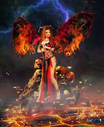 Infernal redhead by Julianez