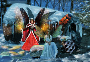 Fairies of Christmas and winter by Julianez