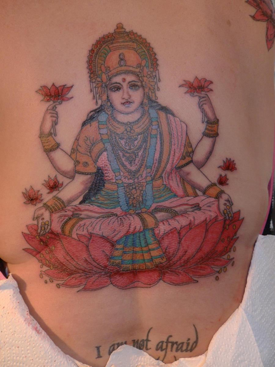 lakshmi tattoo by 01207bigal on deviantart. Black Bedroom Furniture Sets. Home Design Ideas