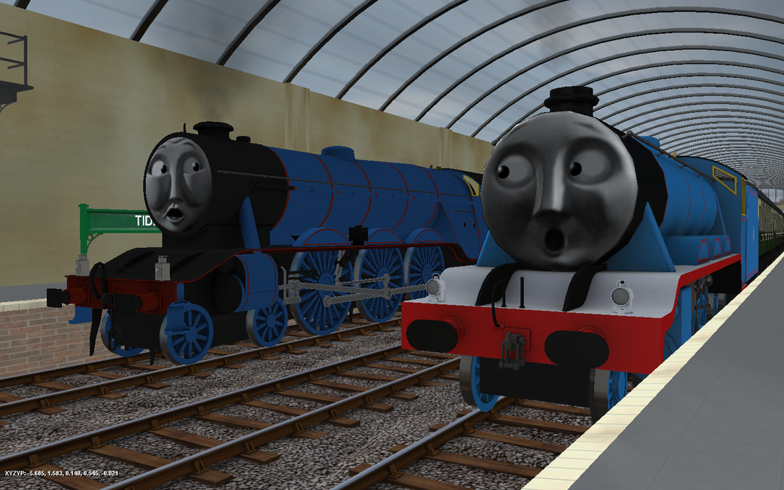 Image boco in trainz thomas and friends png scratchpad fandom - Railway Series Meets Television Gordon Mk2 By Rose
