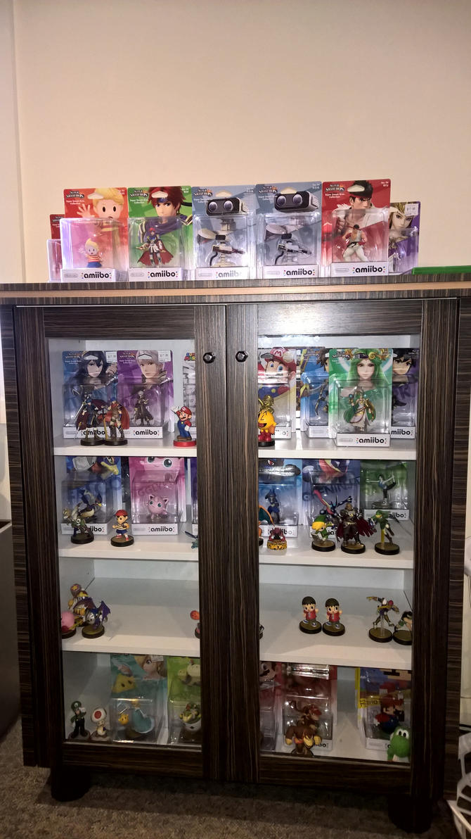 My amiibo Collection (Lucas, Roy, Ryu 'n' R.O.B.!) by Rose-Supreme