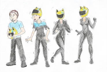 Celty Transformation by Dreadsmile26