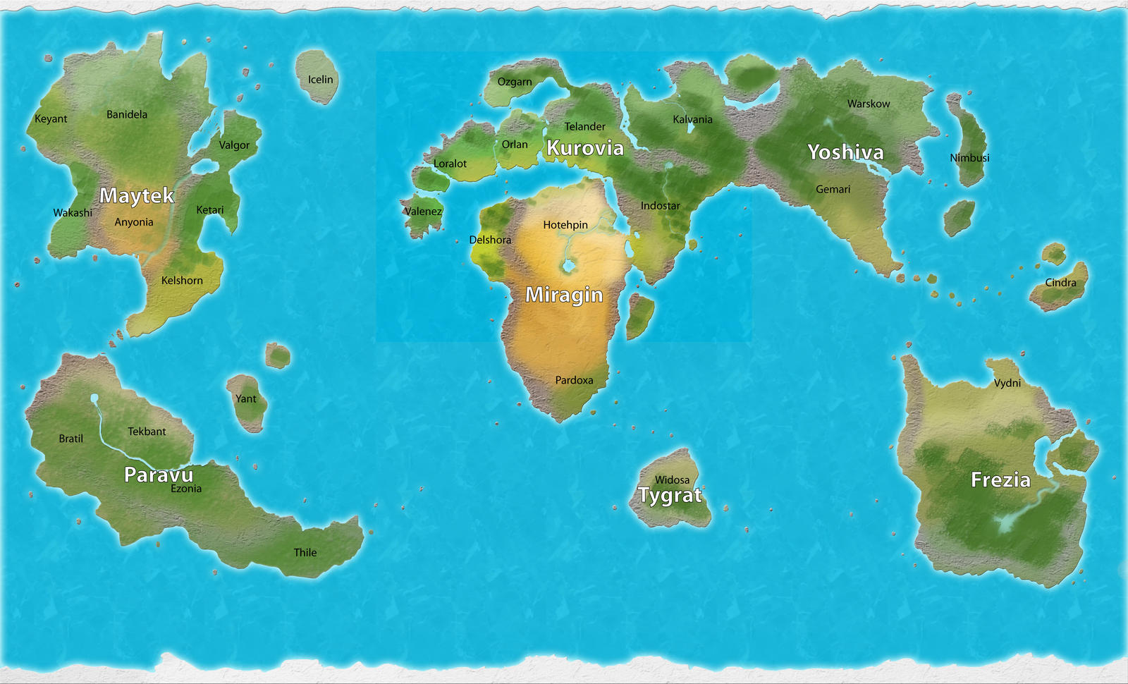 Campaign World Map With Labels By Manticoresoul On DeviantArt - World map with labels