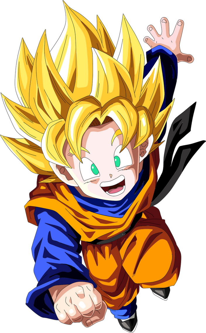 goten super saiyan by frost z on deviantart