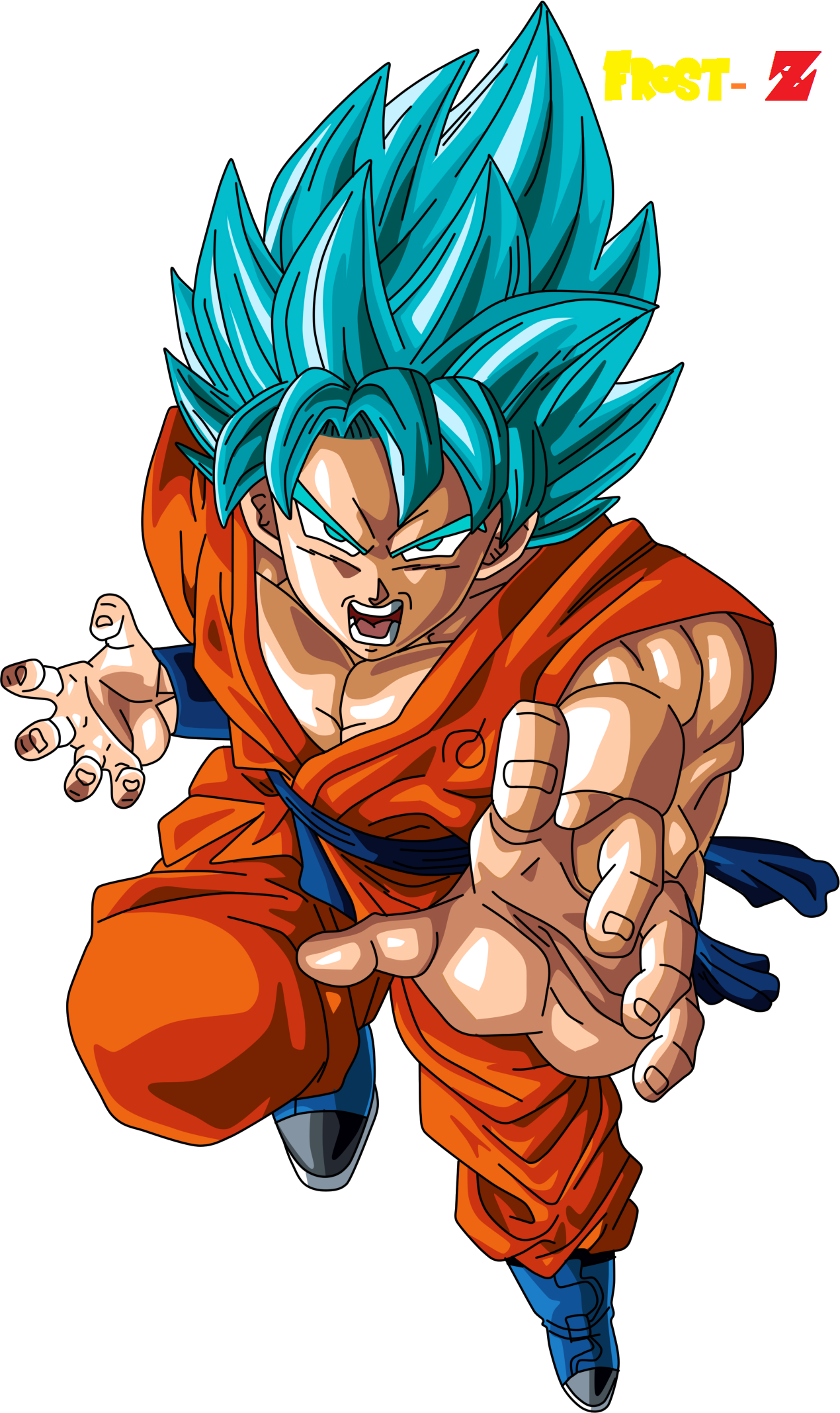 how to draw goku super saiyan 3 blue