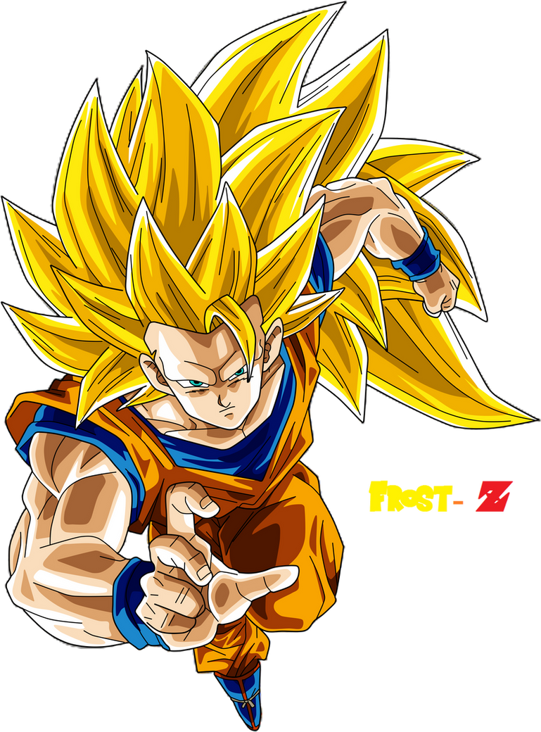 Goku super saiyan 3 by frost z on deviantart - Sangohan super saiyan 3 ...