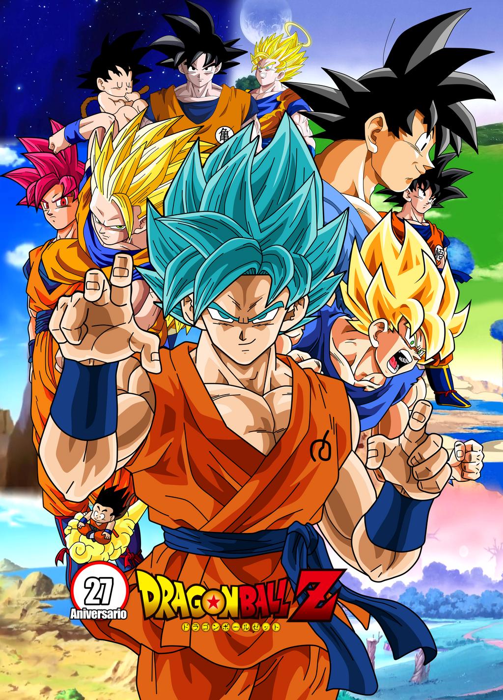 Poster Dragon Ball Z 27 Aniversario