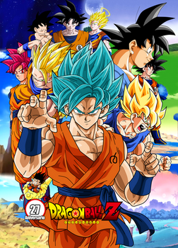 Poster Dragon Ball Z 27 Aniversario