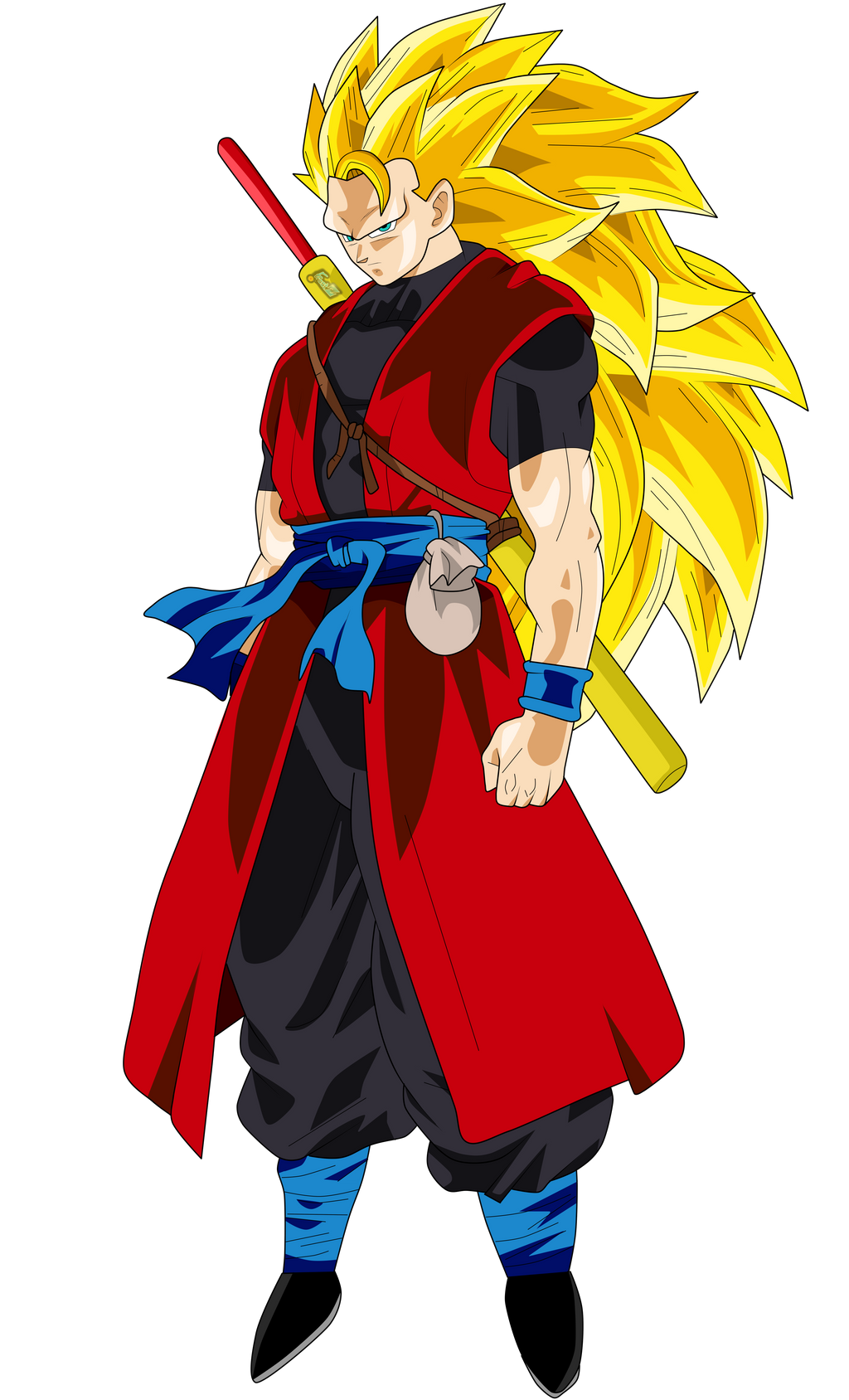 goku xeno super saiyan 3 by chronofz on deviantart