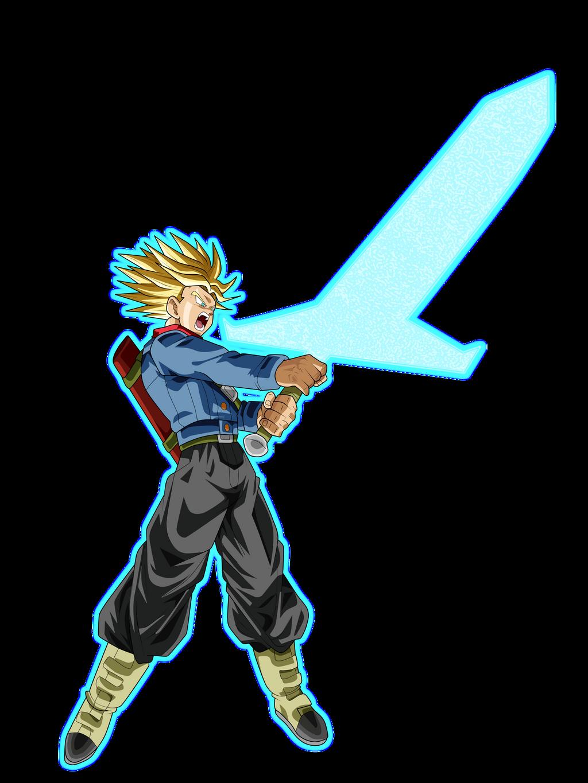 fan art wanted to draw super saiyan rage trunks dbz
