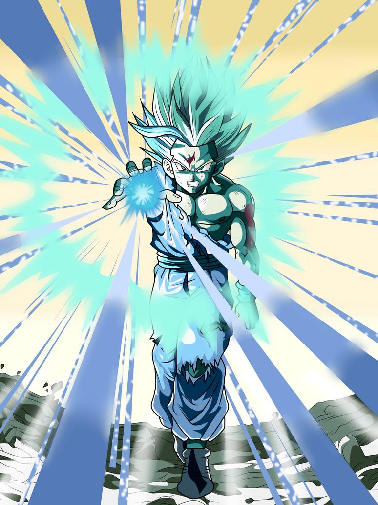 Gohan Super Saiyan 2 (Kamehameha) by Frost-Z on DeviantArt