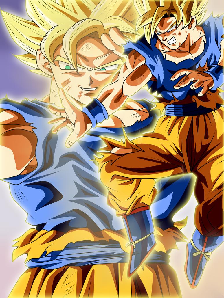 How To Draw Goku Vs Kid Buu