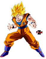 Goku Super Saiyan by ChronoFz