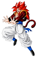 Gogeta Super Saiyan 4 by ChronoFz