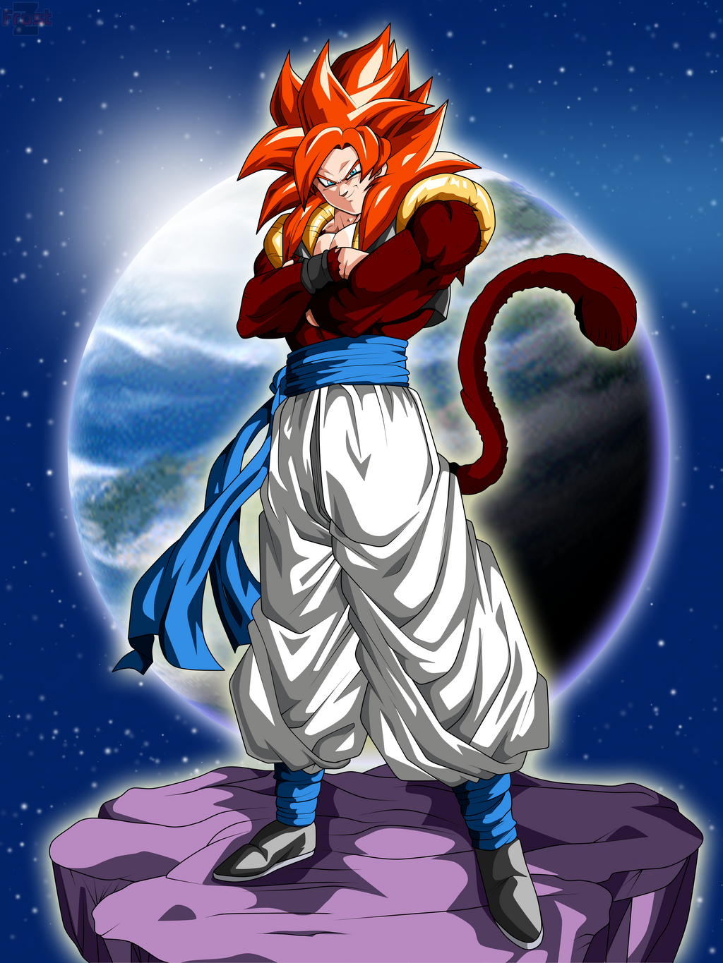 Gogeta super saiyan 4 dragon ball gt by chronofz on - Dragon ball gt goku wallpaper ...