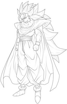 Gohan Super Saiyan 3 - Lineart