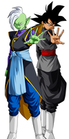 Goku Black y  Zamasu